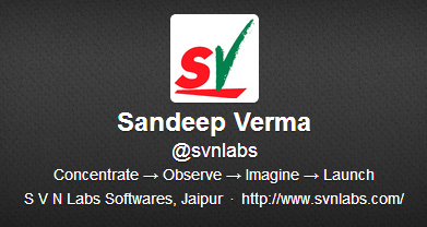 Sandeep Verma (svnlabs) on Twitter