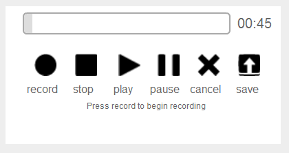 Barebones Audio Recorder