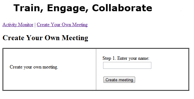 Create Your Own Meeting