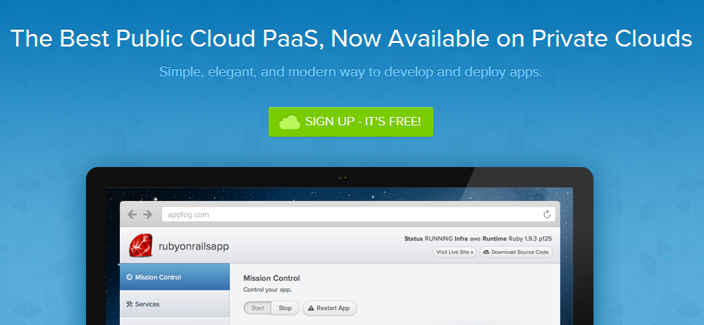 AppFog- PaaS for Public and Private Clouds