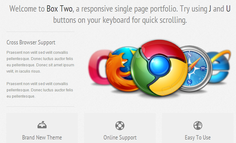 Box Two - A Responsive One Page Theme