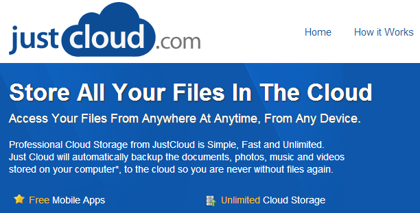 Cloud Storage From Just Cloud. Free Online Storage