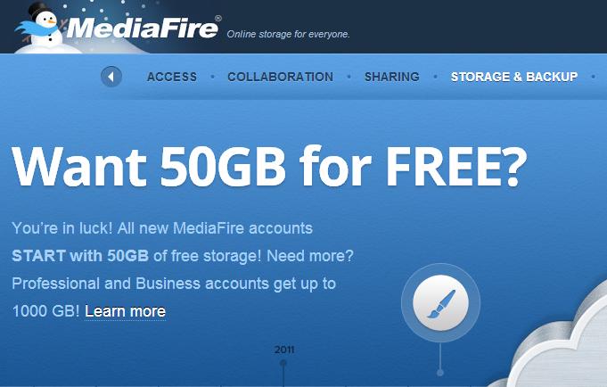 Free Online Storage - MediaFire
