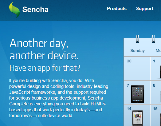 HTML5 App Development Tools. Build Apps for Any Device with Sencha. - Home - Sencha