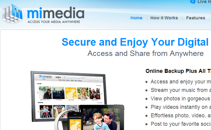 Online Storage & Online Backup Solutions - MiMedia