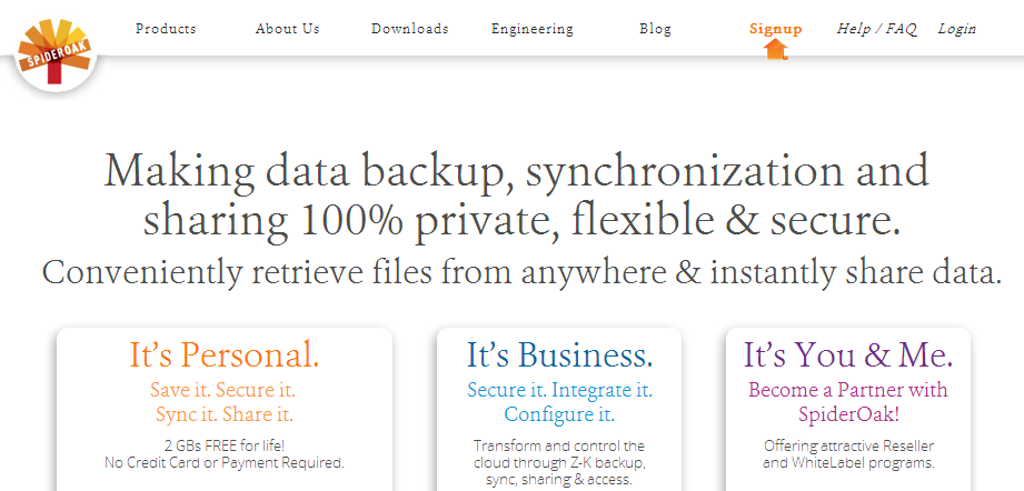 Zero-Knowledge data backup, sync, access, storage and share from any device - SpiderOak.com