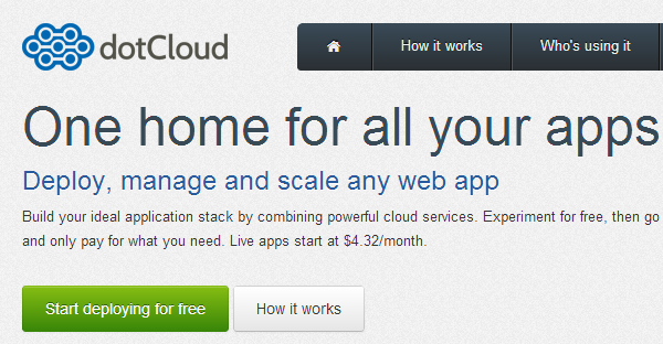 dotCloud - One home for all your apps