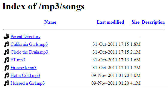 MP3 Folder Index