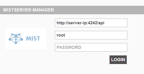 Mistserver Manager Login
